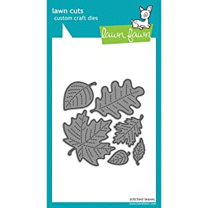 Lawn Fawn Custom Craft Dies - Stitched Leaves