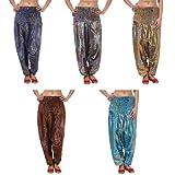 Wholesale lot of 5 Pcs Printed Aladdin Style Harem Trouser pant Baggy By Rajrang