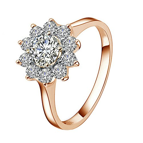 Yoursfs Elegant Lotus 18k Rose Gold Plated 1CT