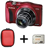 Fujifilm FinePix F800EXR - Red + Case and 8GB Memory Card (16MP EXR CMOS Sensor, 20x Optical Image Stabilized Zoom) 3 inch LCD Screen