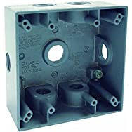 Hubbell 5938-0 Do it Electrical Outdoor Outlet Box-2 GANG GRAY OUTDOOR BOX