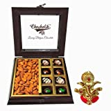 Chocholik 8pc Yummy Chocolates & Almonds Box With Ganesha Idol - Chocholik Belgium Chocolates
