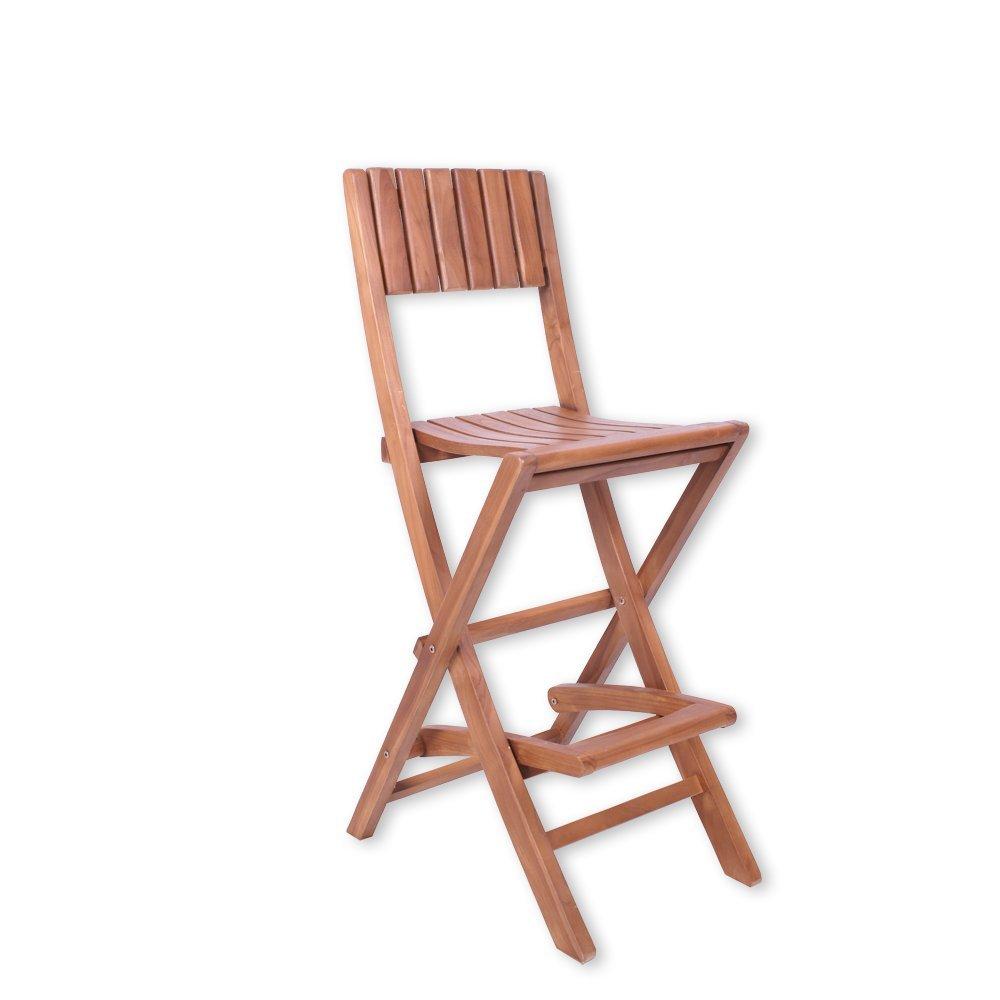 Barhocker PATI Barstuhl Hochstuhl Klappstuhl Hocker Bistro Gartenmöbel Stuhl Teakholz günstig
