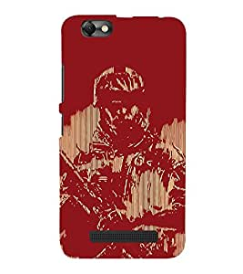 Soldier Painting Cute Fashion 3D Hard Polycarbonate Designer Back Case Cover for Lenovo Vibe C :: Lenovo A2020