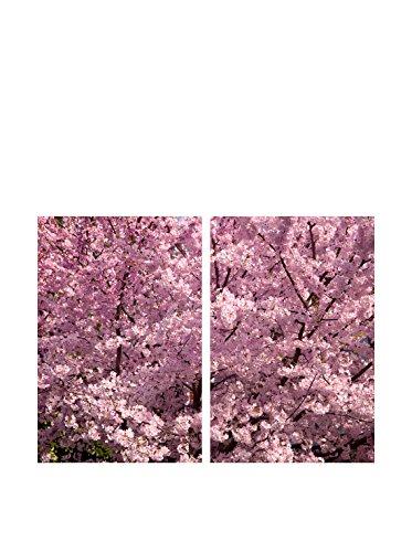 Art Addiction Pink Cherry Blossom Close Up Set of 2, Multi, 36