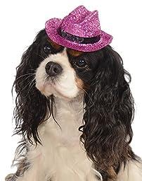 Rubies Costume Company Glitter Cowboy Hat Pet Costume Accessory, Small/Medium, Pink