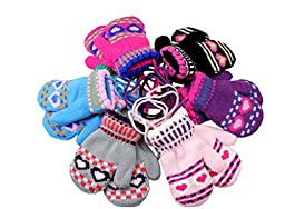 Taiycyxgan Children\'s Toddler Stretch Winter Gloves 2-Pack(Color Will Send Randomly)