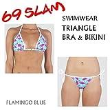 69SLAM 【ロックスラム】レディース 水着 TRIANGLE BRA BIKINI FLAMINGO BLUE【トライアングルビキニ】フラミンゴブルー ビキニ