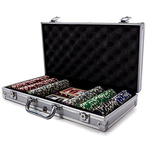 Fitfiu - Maletín profesional Poker con 300 fichas de juego (Agroverd Casino Chip)