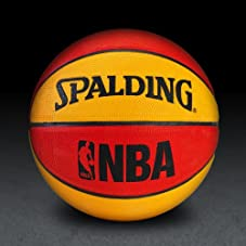 NBA Mini Basketball - Red/Orange