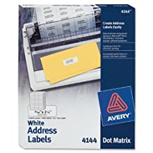 Avery Dot Matrix Printer Labels (AVE4144)
