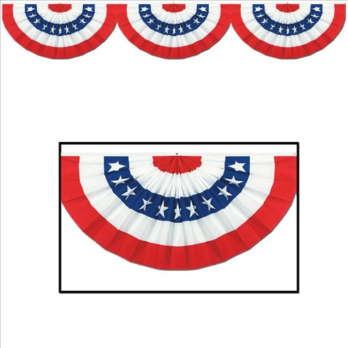 Beistle 55060 Jointed Patriotic Bunting Cutout, 12 by 6-Feet