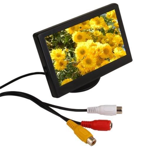 Sodial r monitor lcd 4 3 per auto telecamera retromarcia dvd for Telecamera amazon