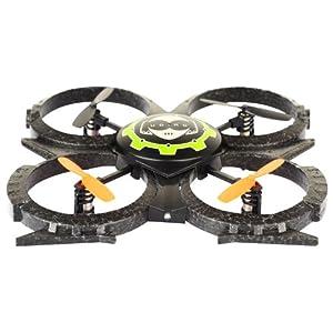 Quadcopter Pro Version, 2.4Ghz ferngesteuert UFO-Modell mit 2 x Akku und Ersatzteil-Set, Modell-Drohne für 3D-Flug, Ready-to-Fly