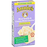 Annie's Homegrown Gluten Free Rice Shells with Creamy White Cheddar, 6 oz, 12 Pack