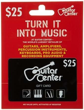 guitar center gift card 25 gift cards. Black Bedroom Furniture Sets. Home Design Ideas