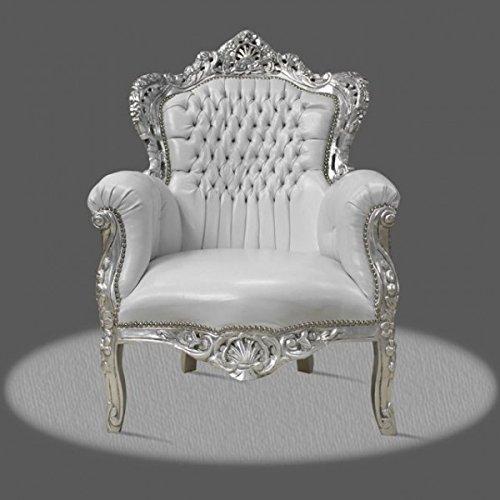 Sillón barroco Louis XV fauteuille estilo antiguo rococó NkCh0500SiSkWe
