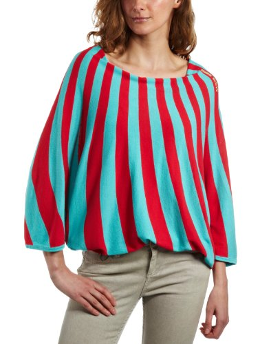 Miss Sixty Larha Grafic Sweater Womens Top dark paradise coral Large