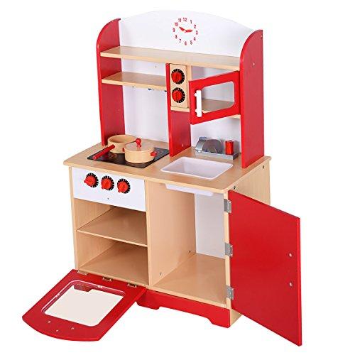 Realistische Kinderküche Spielküche Holz Kinderspielküche ...