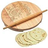 World-Of-Flavours-Nudelholz-und-Brett-aus-indischem-Holz-zum-Backen-von-Brot-und-Gebck-Geschenk-Set