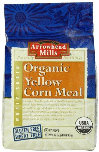 Arrowhead Mills Organic Yellow Corn Meal, 32 Ounce (Pack Of 6)