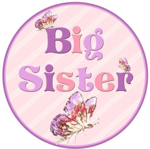 Mumsy Goose Big Sister Birth Announcement Sticker