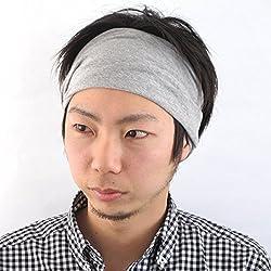 Casualbox Womens Made in Japan HeadBand Hair band Organic Cotton Skin Light Gray