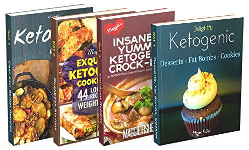 Insanely Low Carb Box Set 190+ Ketogenic Recipes: Breakfast, Lunch, Dinner, Snacks, Desserts, Cast Iron, Slow Cooker / Crockpot Recipes by Maggie Fisher