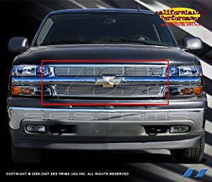 1999 2002 chevy silverado 304 stainless steel chrome plated billet grill grille