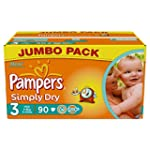 Pampers Simply Dry Couches Midi 4-9 k...
