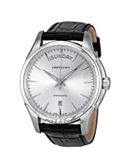Hamilton Jazzmaster Automatic Silver Dial Black Leather Mens Watch H32505751