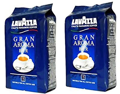 Lavazza Gran Aroma Bar Coffee Beans, 2.2-Pound 2 FOR ONE