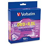 Verbatim 95166 8.5 GB 2.4x-6x Double Layer Recordable Disc DVD+R DL, 10-Disc Spindle