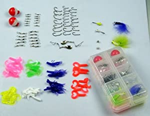 102pcs in 1 Box Pack Fresh Water Fishing Snap Soft Lure Wire Leader Hooks Utility... by thkfish