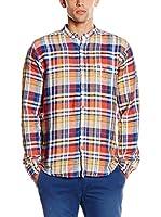 Springfield Camisa Hombre (Coral / Azul)