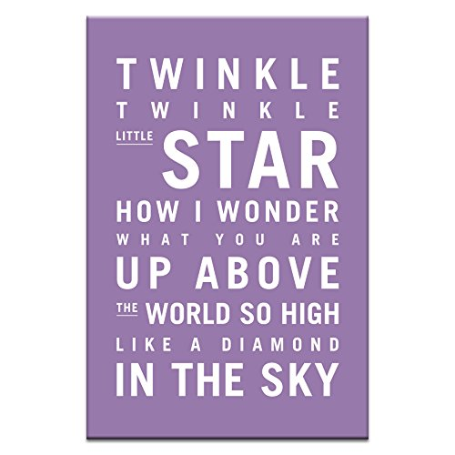 Artist Lane 28TV - P2633 Twinkle, Twinkle Little Star Canvas Artwork by Nursery Art, 12 by 18 by 1.5-Inch