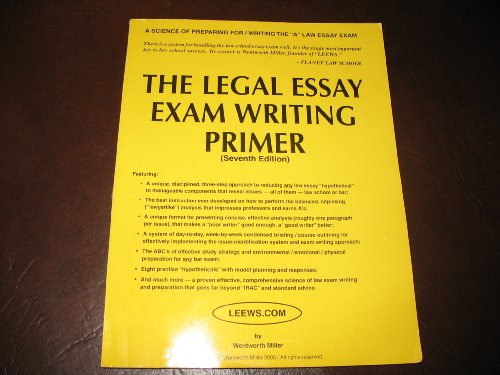 legal essay exam writing Florida bar essays are mostly based on unique florida laws florida bar essay tutors teach you the fl laws you need to know to pass the florida bar exam.