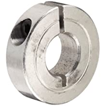 Climax Metal One-Piece Clamping Shaft Collar, Aluminum