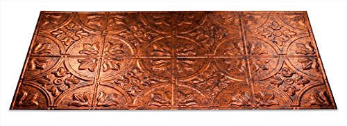 Fasade Easy Installation Traditional 2 Moonstone Copper Glue Up Ceiling Tile / Ceiling Panel (2' x 4' Panel) (Copper Panels compare prices)