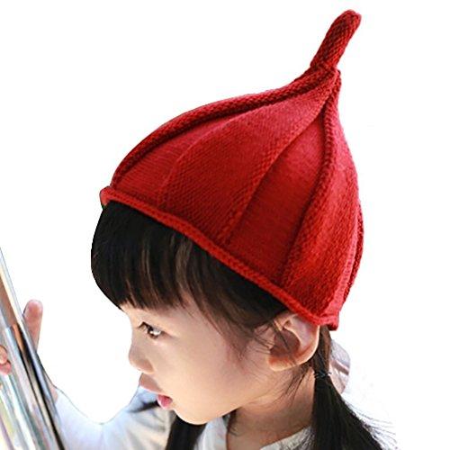 (モリハニ) moli&hani キッズ こども 帽 キャップハット とんがり ニット キャップ タマネギ かわいすぎる 綿 シンプル