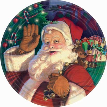 Jolly St. Nick Dessert Plates 8ct - 1
