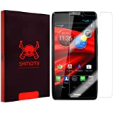 Skinomi® TechSkin - Motorola Droid RAZR MAXX HD Screen Protector Premium HD Clear Film with Lifetime Replacement Warranty / Ultra High Definition Invisible and Anti-Bubble Crystal Shield - Retail Packaging