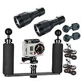 BigBlue Underwater 350 Lumen LED Light System Kit for GoPro Action Video Camera