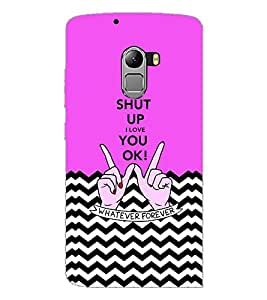 PrintDhaba Quote D-3468 Back Case Cover for LENOVO K4 NOTE A7010 (Multi-Coloured)