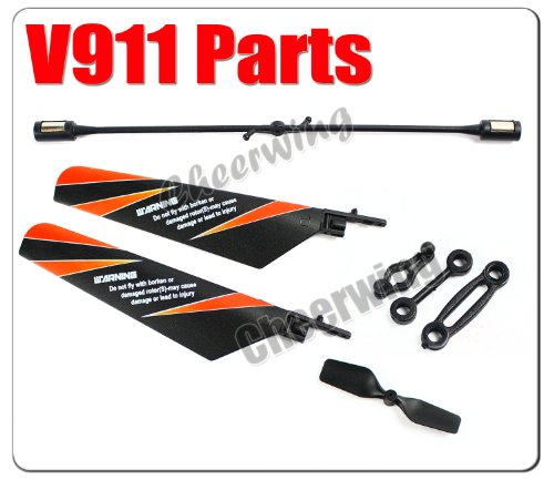 WLtoys V911 4CH Helicopter Part Main Tail Blade + Balance Bar Spare PArts