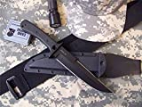 Entrek USA Force Recon MKII Fixed Blade Fighting Knife Black Blade
