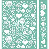 Cuttlebug 5''X7'' Embossing Folder/Border Set-Smitten By Anna Griffin
