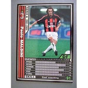WCCF 01-02白黒カード 152 パオロ・マルディーニ