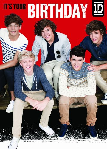 Official One Direction 1d Birthday Card Generic Group Shot By