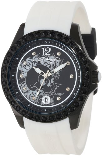 Ed Hardy Women's TE-WH Techno White Watch